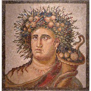 Mosaico genio del año hecho a mano. Medida: 63×63 cm. 7000 teselas de 5mm.