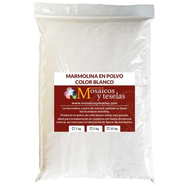 marmolina blanca en polvo