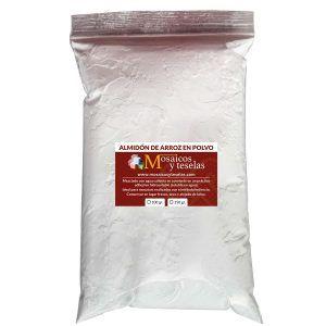 Almidón de arroz en polvo. Color blanco