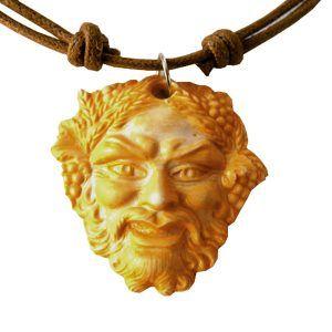 Colgante dios romano Baco serio