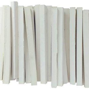 50 barras teselas blancas para cortar 9x9x120 mm.