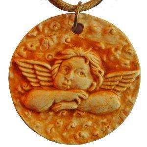Colgante romano Querubín, niño alado.