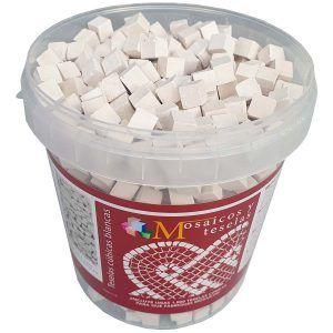 Cubo 1000 teselas blancas mosaico de 9x9x9mm