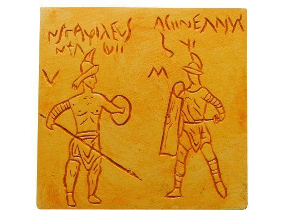 Imán grafiti gladiadores Pompeya