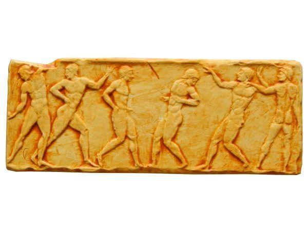 Imán relieve atletas griegos