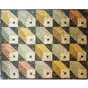 Kit mosaico cubos tridimensionales. 9000 teselas de 7,5mm. Tamaño 85×75 cm.