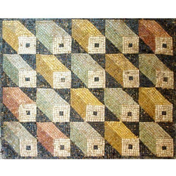 mosaico romano cubos tridimensionales