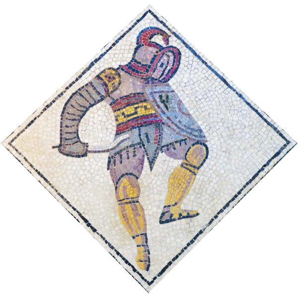 kit mosaico gladiador tracio