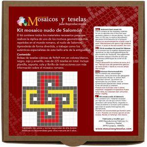 Kit mosaico cuadrado nudo de Salomón (225 teselas)