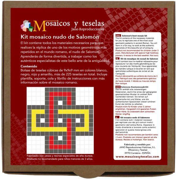kit mosaico cuadrado nudo de Salomón