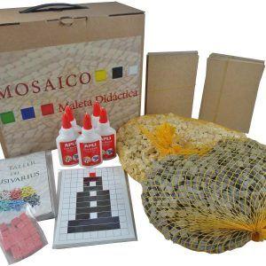 Maleta didáctica mosaico faro romano – Pack completo