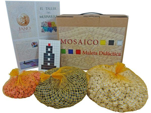 maleta didáctica mosaico faro romano pack básico