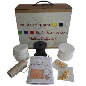 Maleta didáctica reloj de sol portátil romano