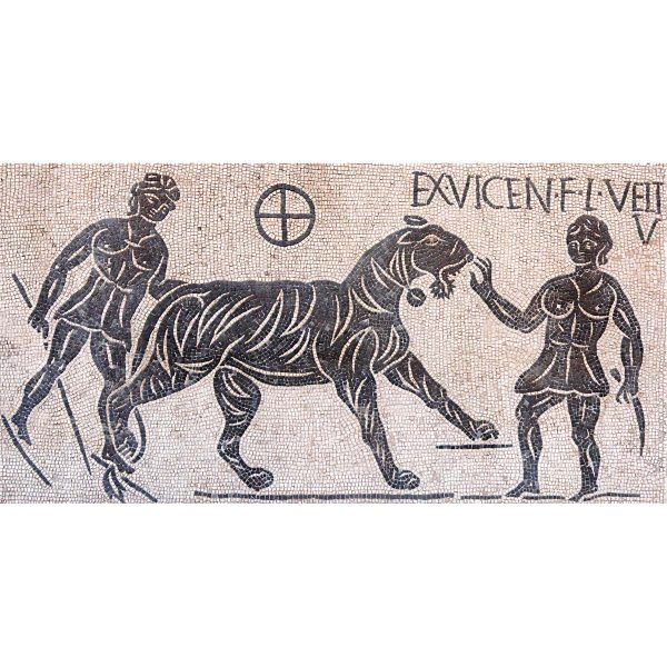 mosaico bestiarios coliseo romano