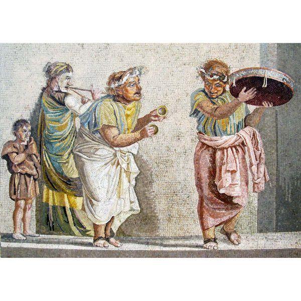 mosaico los músicos callejeros