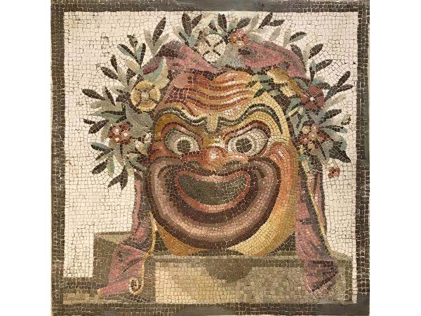 mosaico máscara de teatro