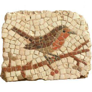 Kit mosaico petirrojo. 260 teselas de 7,5mm. Tamaño: 19×15 cm.