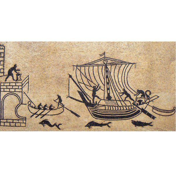 mosaico puerto marítimo