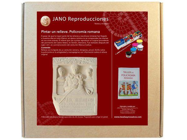 pack policromía lápida centurión romano