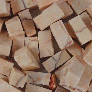 Teselas de piedra de 10x10x20mm. Color rosa Tropical