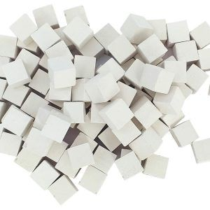 Malla teselas mosaico blancas de 9x9x9mm.