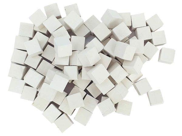 malla teselas mosaico blancas