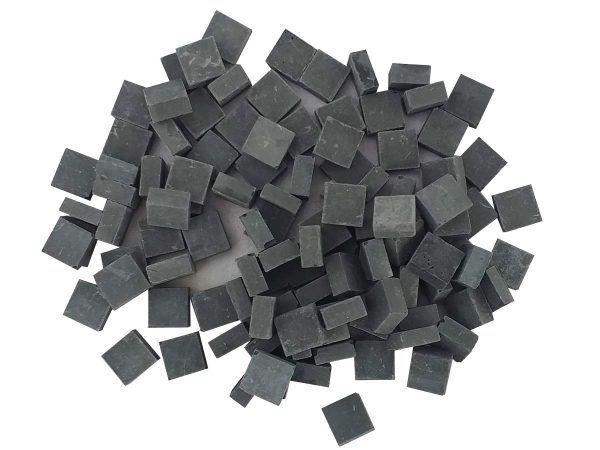 malla 1kg teselas planas negras