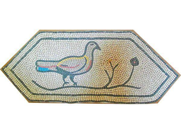 mosaico tórtola romana hecho a mano