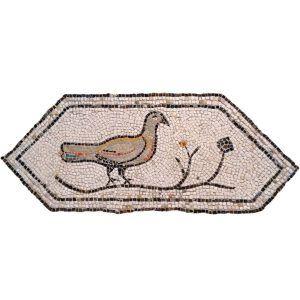 Kit mosaico tórtola romana. 2700 teselas de 5mm. Tamaño 62×24 cm.