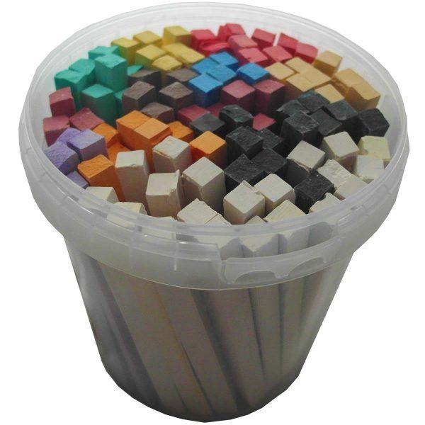 barras de colores de teselas para cortar