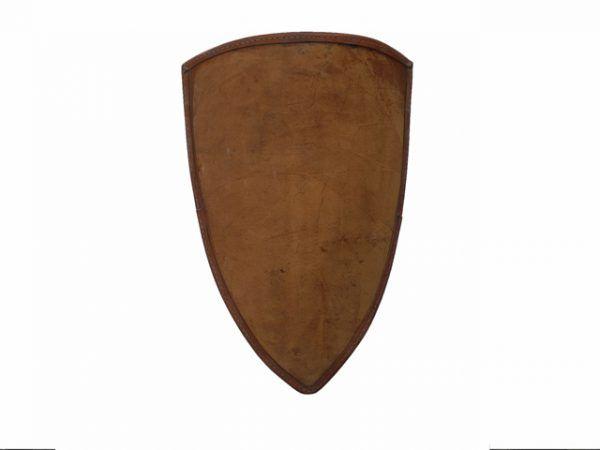 Escudo medieval forrado de cuero