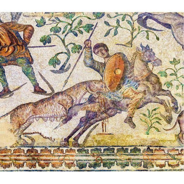 mosaico romano escena caza