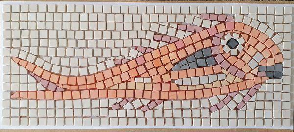 mosaico pez naranja Tarraco sin lechada
